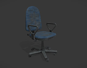 Office Chair 3D asset game-ready office-supply