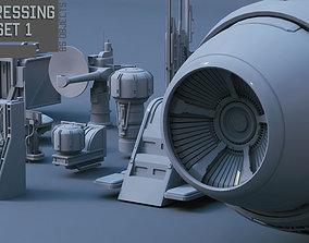 3D Scifi dressing kitbash set 1