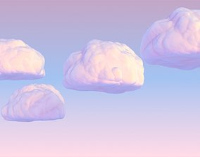 3D model Clouds Cartoony Cloud fabulous Cartoon Cotton