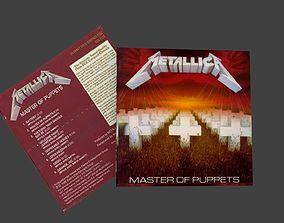 low-poly Metallica Master of Puppet original cd 3d model