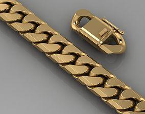 silver 3D print model bracelet 118