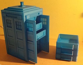 3D print model Tardis with drawers