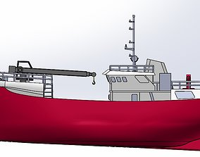 merchant ship 3D printable model