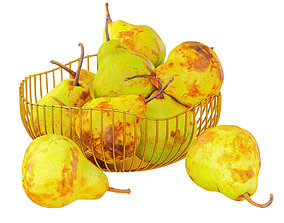 3D model Pears in a Decorative Vase