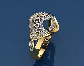 Gold Ring 3D print model 3D print model fashion-and-beauty