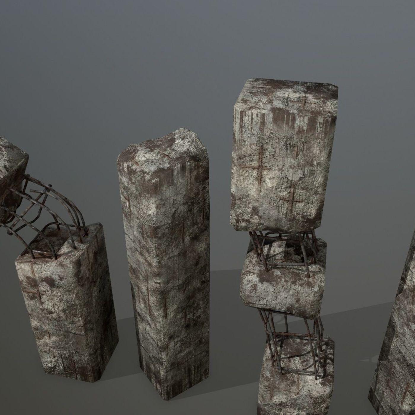 old concrete pole