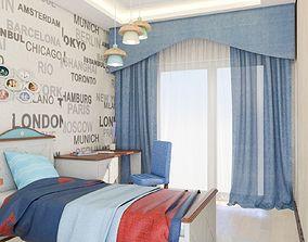 Childrens room design bedroom 3D model