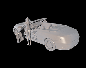 Roadster auto 3D printable model