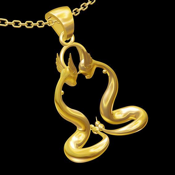 Water pokemon pendant jewelry gold necklace medallion 3D print model