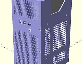 Compact computer mATX case 3D print model