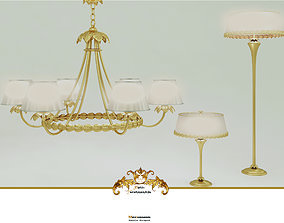Chandelier Floor Lamp desk lamp 3D model