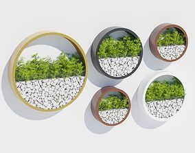 3D model Wall planters one
