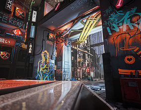 3D asset Cyberpunk Environment Kitbash Set