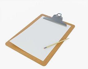 3D asset Office Clipboard