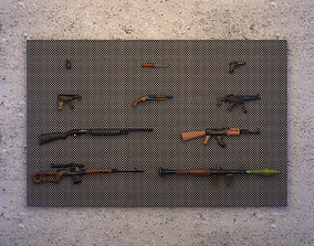 Low-Poly Weapon Collection 3D model