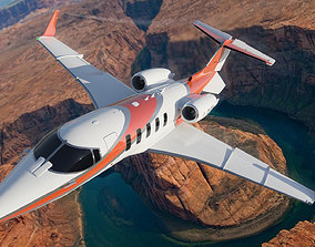 Learjet 60X Airplane Aircraft Commercial business 3D model