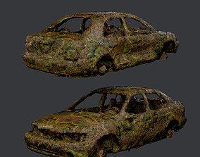 3D model Apocalyptic Damaged Destroyed Vehicle Car Game 2