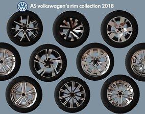 3D model AS rims collection - VW 2018