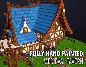 Medieval Tavern - Fully Handpainted 3D Model realtime
