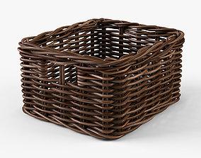 3D model Wicker Basket 06 Brown