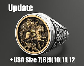Ring St George silver 3D print model