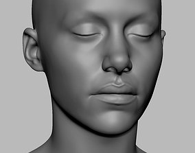 Female Head Printable