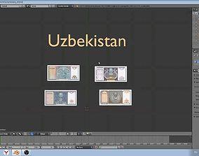 Uzbekistan - currency models 3D