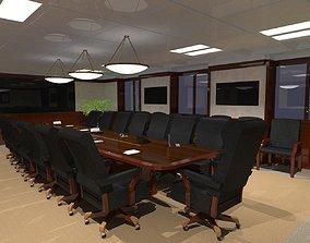 3D model desk Meeting Room