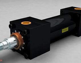Hydraulic Cylinder 3D animated
