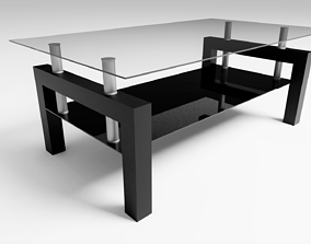 3D Coffee Table indoors glass
