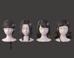 The girl hair Restoring ancient ways braid Neat 3D asset