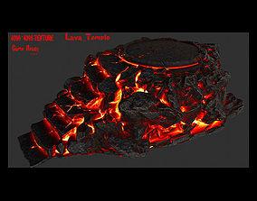 3D asset lava temple