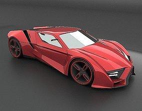 Itonox futuristic racer concept 3D model