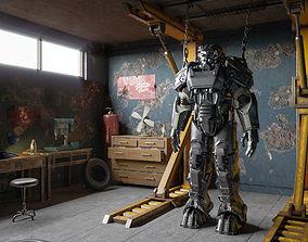 Fallout fun set Powerarmor 3D model military