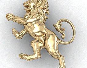 LION HERALDIC 3D printable model