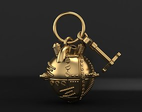Mechanical heart pendant steampunk 3D printable model