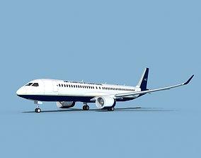 3D Airbus A220-300 Air Charter Intl