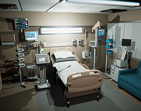 3D asset hospital recovery room