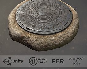 Sewer Hatch v5 3D asset