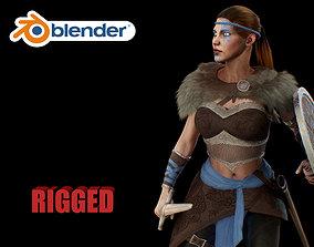 viking 3D asset rigged