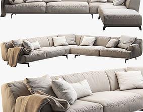 Poliform Tribeca corner sofas 3D