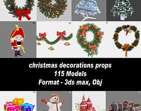 Christmas decorations props 3D model