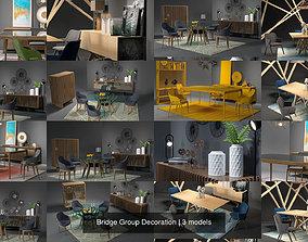 Bridge Group Decoration 3D model