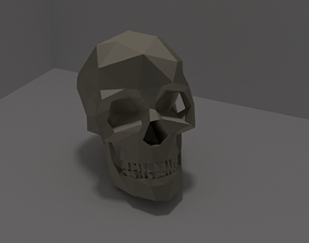 3D print model Low Poly Skull or Keychain