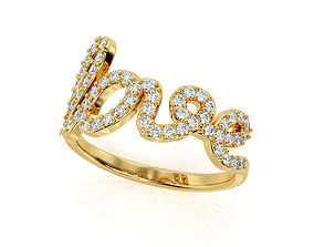 3D print model Love Ring R F 0049