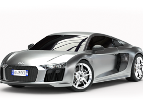 Audi R8 2016 3D model rigged