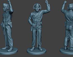 3D printable model German Tank Crew unit ww2 Action GTC1