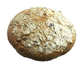 low-poly Photorealistic 3D Scanned Rye Bun