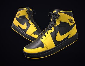 3D model Sneaker Nike Air Jordan Yellow Black