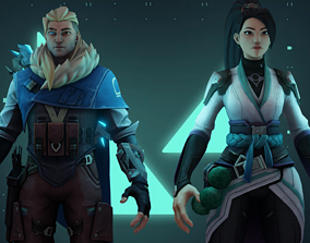 Free Sova and Sage - character from Valorant 3D model